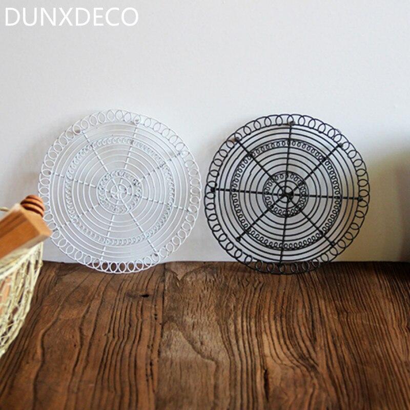 DUNXDECO Tisch Tischset Topflappen Eisen Mat Nordic Handgemachte ...