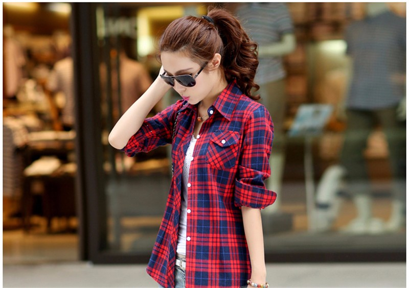 checked blouse 11