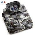 Langmeng 2016 Hombre Casual Camisas de Vestir Camisa de Los Hombres de Algodón de Camuflaje de Combate Militar Camo Campo Mens outwear la manga larga camisa de los hombres