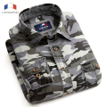 Langmeng 2016 Man Casual Camouflage Shirt Men Cotton Combat Dress Shirts Military Camo Camp Mens long sleeve outwear men shirt