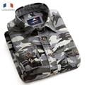 Langmeng 2016 Man Casual Camouflage Shirt Men Cotton Combat Dress Shirts Military Camo Camp Mens long sleeve outwear men shirt