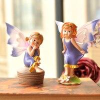 Petit Jardin Accessoires Cadeau Ameublement Enfants Logements Neufs Locaux Décoration Ange Poupée Résine Fée Jardin Miniatures