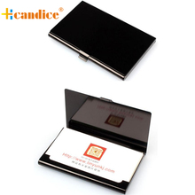 New Qualified New Fashion Creative Aluminum Holder Metal Box Cover Credit Business Card Wallet  drop ship bea6623