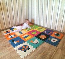 Детская Мягкая развивающая ползет ковры, детская игра-головоломка номер/письмо/мультфильм из пеноматериала EVA, коврик для детских игр 32*32*1 см