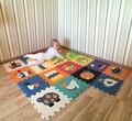 Desenvolvimento suave infantil rastejando tapetes, jogo do bebê número puzzle/carta/desenhos animados esteira da espuma de eva, almofada piso para jogos do bebê 32*32*1 cm