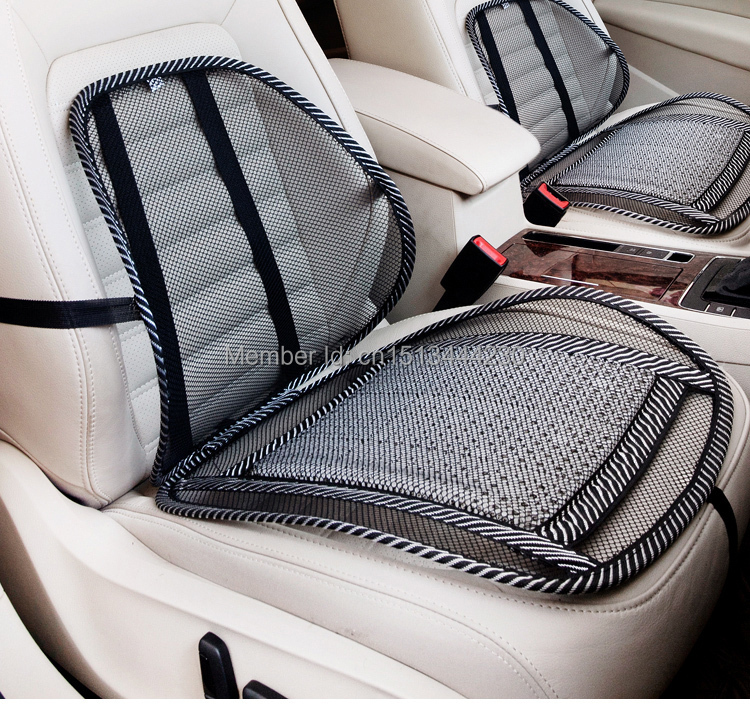 Free Shipping High Quality Nylon Cool Vent Massage Cushion Mesh Car Seat Covers Accessories Relax The Neck And Waist In Automobiles From