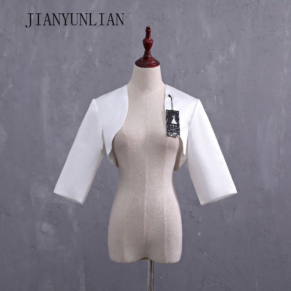 2020 New Silver/Grey Satin Wedding Bolero/Tippet/Shrug/Bridal Jacket/Stole/Wrap Half Sleeves Lined Custom Made 1/2 Sleeves