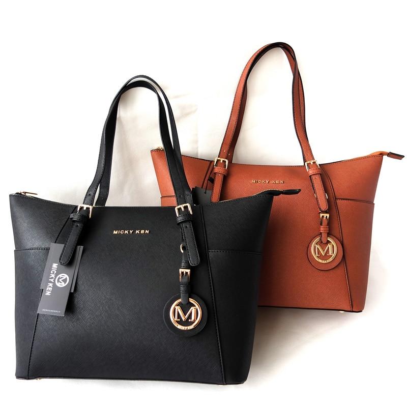 MICKY KEN bolsa feminina 2018 women handbags big pu leather high quality  letter female bag designer fe10de106ee3d