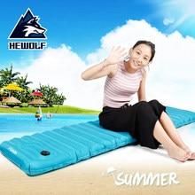 Hewolf Moisture-proof outdoor single inflatable cushions ultra-light portable camping sleeping mats cushions tents air cushio