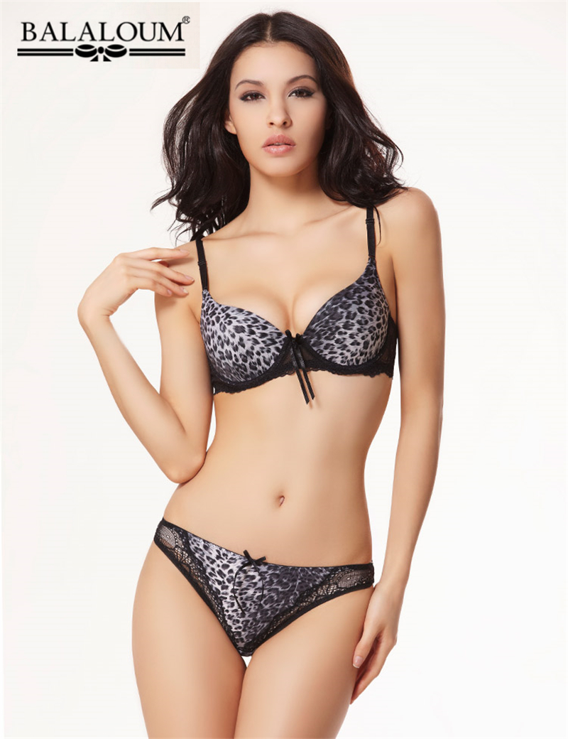 Popular Leopard Bra Set-Buy Cheap Leopard Bra Set lots from China ...
