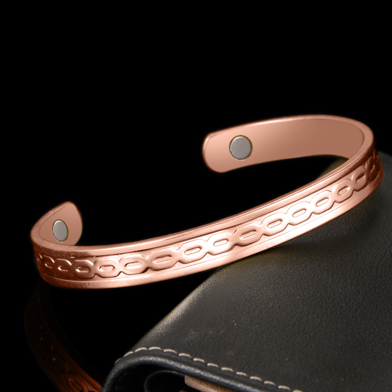 Koperen armband met magneten