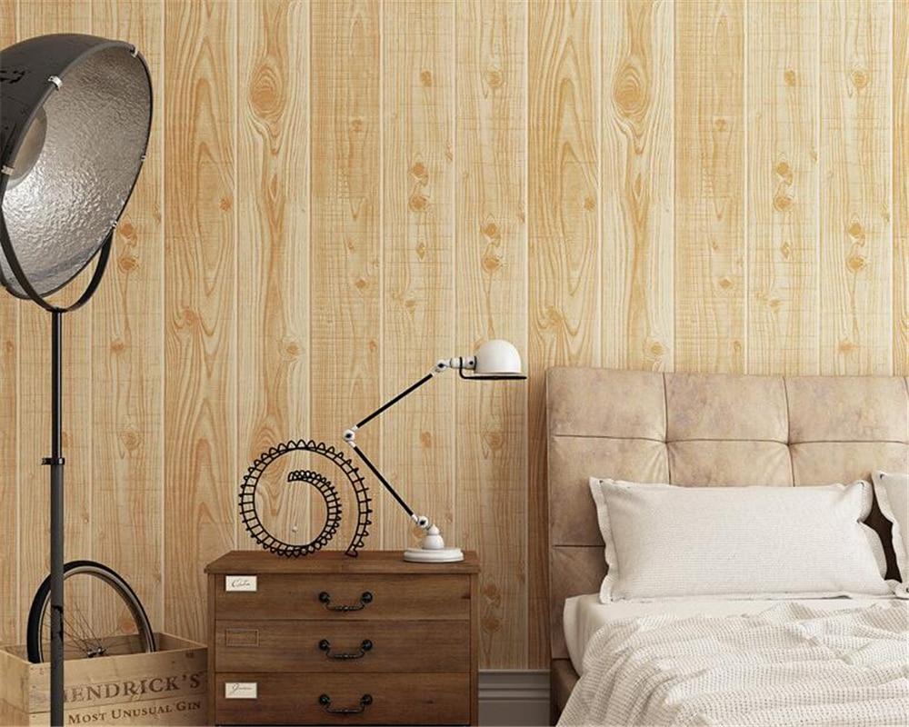 Beibehang plancher bois grain 3d papier peint classique bois papier peint chaud et simple étude TV fond papier peint pour murs 3 d