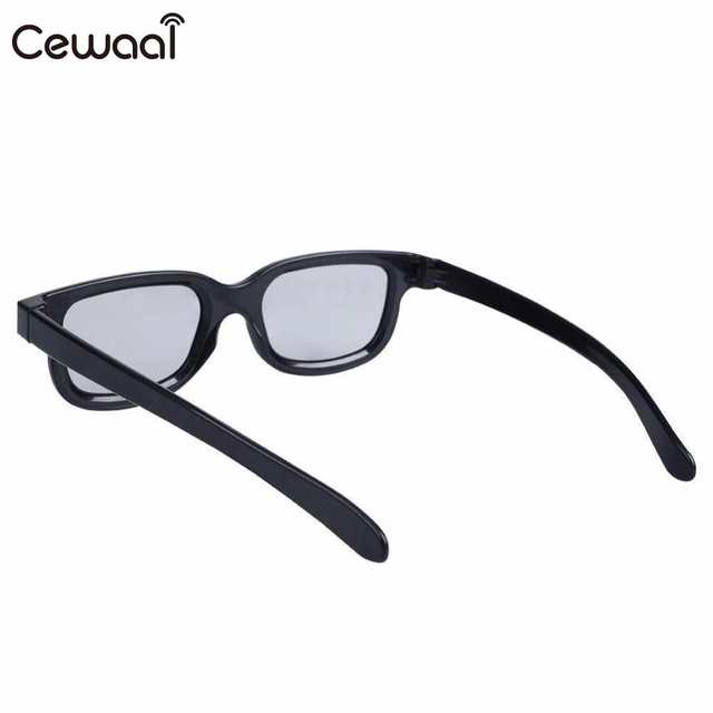e89c3499603 Cewaal High quality Black Round Polarized 3D Glasses Movie DVD LCD Video  Game Theatre TV Theatre