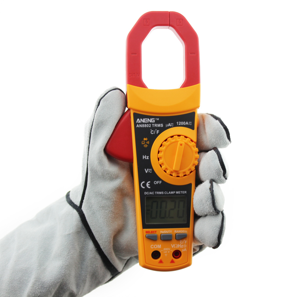 TRMS Clamp Multimeter 6000 Counts Temperature Auto Range AC/DC Ammeter #LO