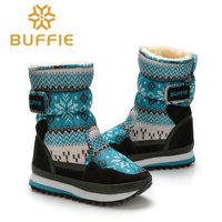 2016 New Kids Winter Boots Warm Thick Fur Outdoor Traveling Mom Children Snow Boots Plus Size