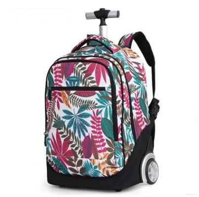 18 Inch Wheeled Backpack Kids School Bags On Wheels Trolley Backpack Bag For Teenagers Children School Rolling Backpack For Girl
