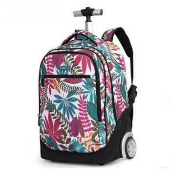 18 inch Wheeled backpack kids School bags On wheels Trolley backpack bag for teenagers Children School Rolling backpack for girl - DISCOUNT ITEM  16% OFF All Category