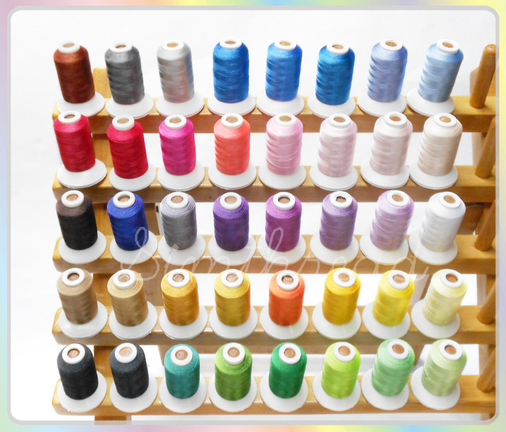 40 Brother Colors/kit Polyester Embroidery Machine Spools Thread, 1000M/pc