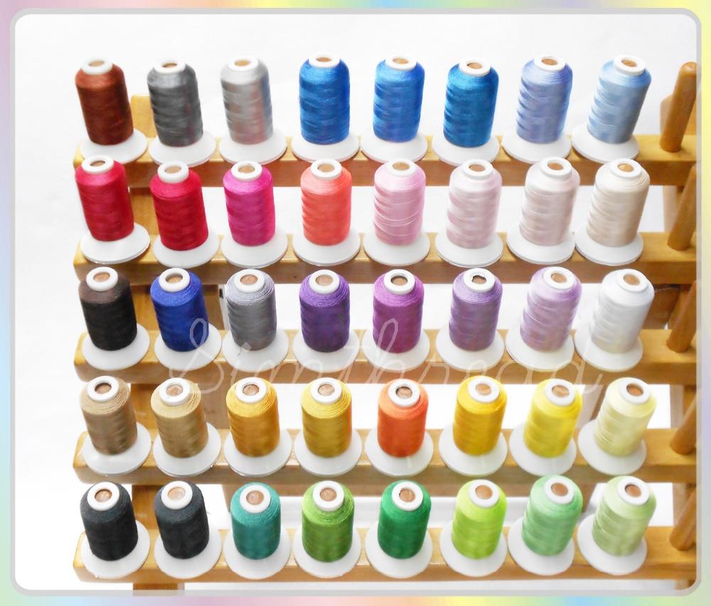 40 Vlákna Brother Colors / kit Polyester Embroidery Machine Thread, - Umění, řemesla a šití