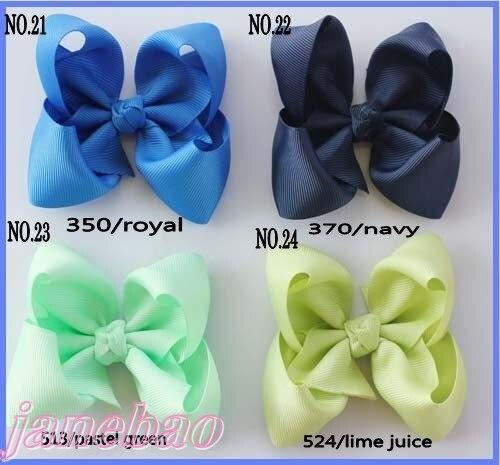 Разноцветные 500 ps 3,5 ''бутик для волос луки бантики, аксессуары для волос