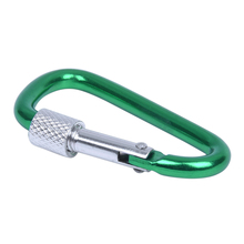 купить Green Pear Shape Screw Locking Carabiner Camping по цене 42.24 рублей