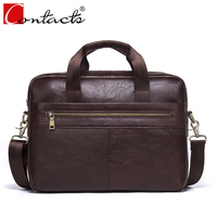 CONTACT S Hot Sale Business Genuine Leather Men Briefcase Cowhide Men Messenger Bags Laptop Business Bags