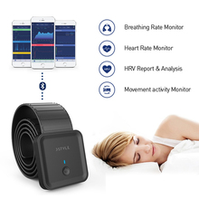Smart Bluetooth sleep ECG monitor HRV heart rate respiratory monitoring Chest Strap Pressure Sensor with App health care