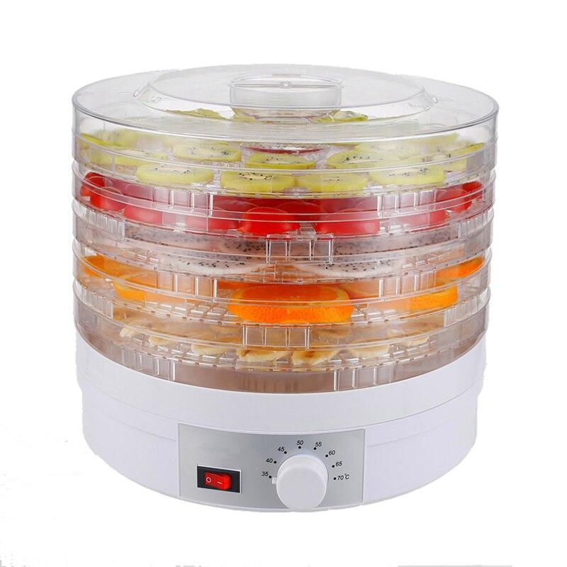 Machine de séchage de viande d'herbe de Fruit de déshydrateur de nourriture de prise d'ue/UK/US casse croûte déshydrateur de Fruit de dessiccateur de nourriture avec 5 plateaux-in Déshydrateurs from Appareils ménagers    1