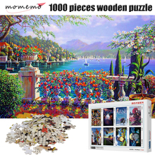 MOMEMO Garden Puzzles for Adults 1000 Pieces Wooden Toys Landscape Jigsaw Puzzle Games Children
