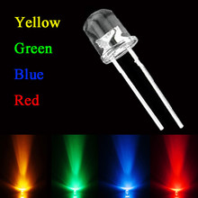 Best Price 80Pcs 5mm 2Pins Red Yellow Blue Green Light Assortment LED Diodes Round DIY Kit