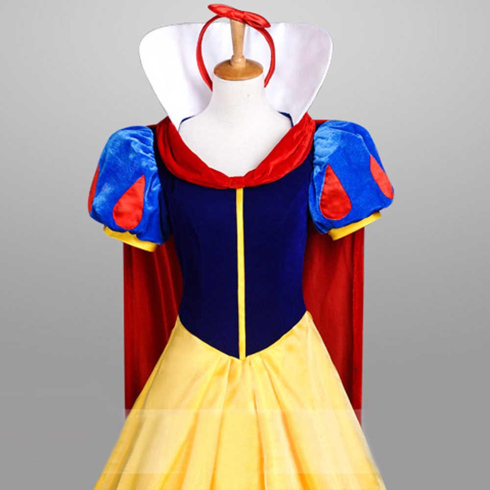 Snow white adult costume chiffon