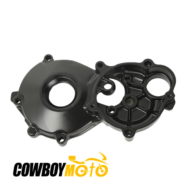 Motorcycle Black Parts Engine Starter Cover Crankcase For Suzuki GSXR1000 RH 2001 - 2008 03 04 05 06 07 Aluminum zoomer ruckus fi nps50 engine frame extend extension kit cables black motorcycle parts