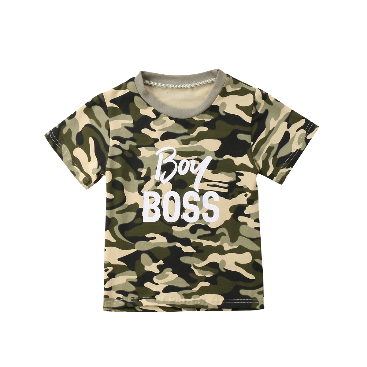 Camouflage Tops Short-Sleeve T-Shirt Newborn Infant Baby-Boy-Girl Cotton Outfits