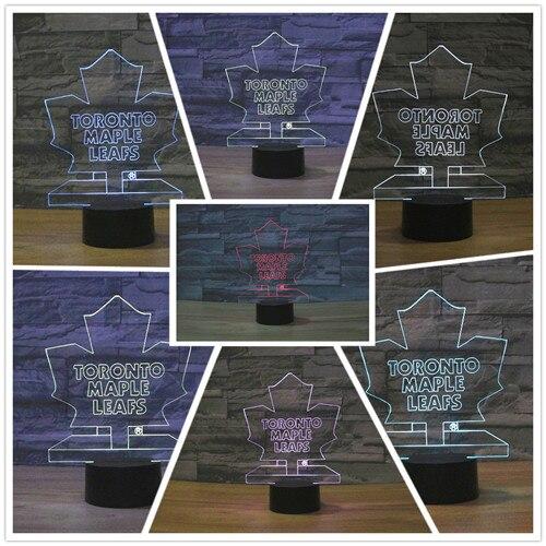 Led Sign Home Decor: NHL Ice Hockey Toronto Maple Leafs LED Neon Light Sign