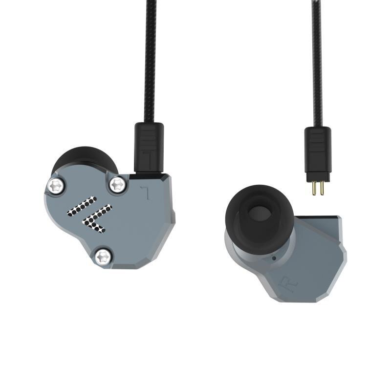AK más Revonext QT2 2DD + 1BA tecnología híbrida en la oreja de alta fidelidad bajo Monito deporte Auriculares auriculares auricular QT3