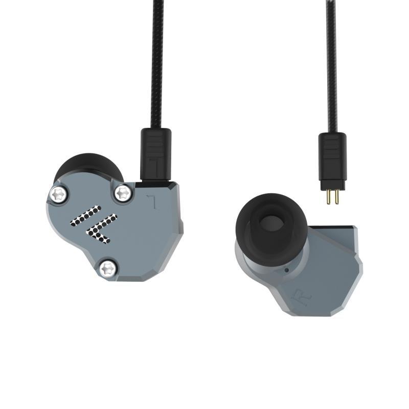 Newest Yinyoo Revonext QT2 2DD+1BA Hybrid In Ear Earphone HIFI Bass Monito Running Sport Earphone Headset Earbud KZ ZS6 ZS10