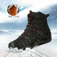 XIANGGUAN hiver hommes randonnée chaussures laine doublure neige bottes plein air chasse bottes imperméable Mountaine chaussures hommes escalade chaussures homme