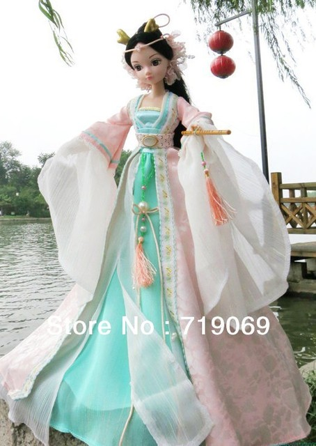 Free shipping! Kurhn China Doll  fashion doll Chinese myths of China Dragon Fairy Princess 9059
