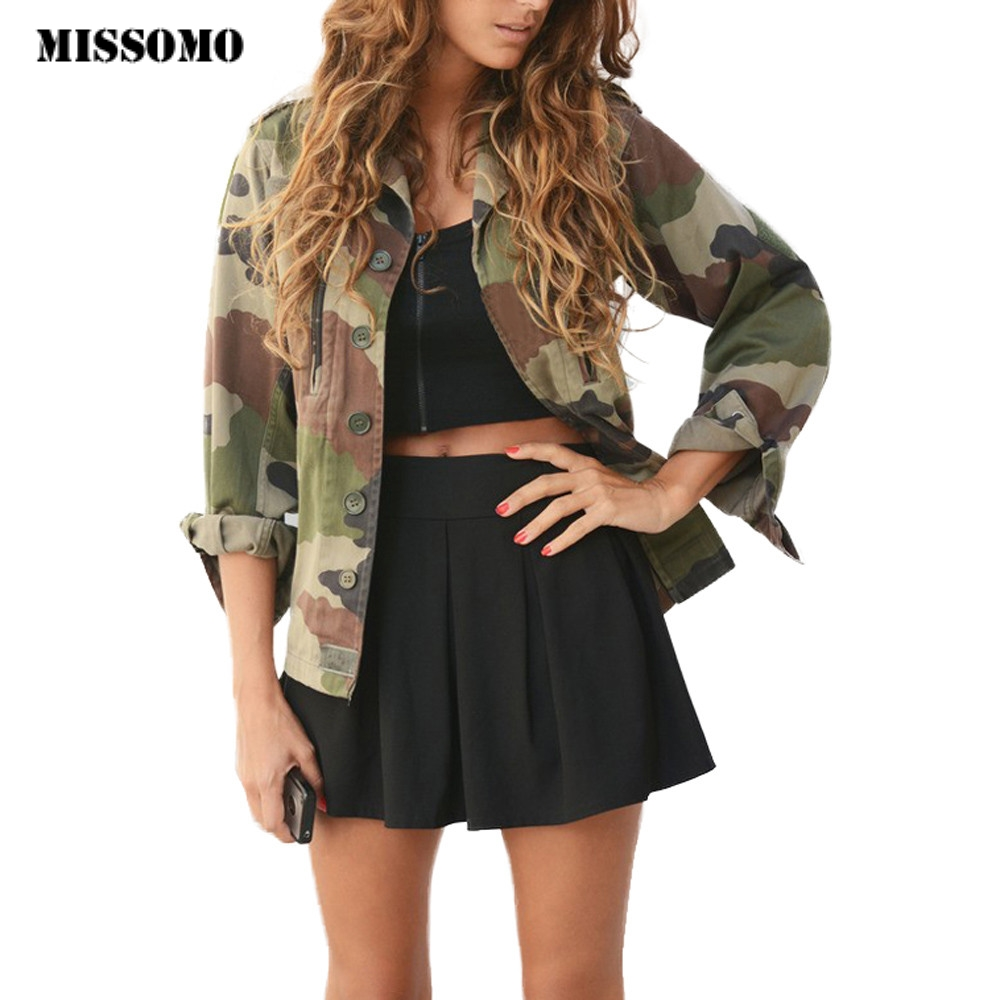 MISSOMO female jackets Women Camouflage Jacket   Coat   Autumn Winter Streetwear Jacket Women Casual Jackets women clothes 2019