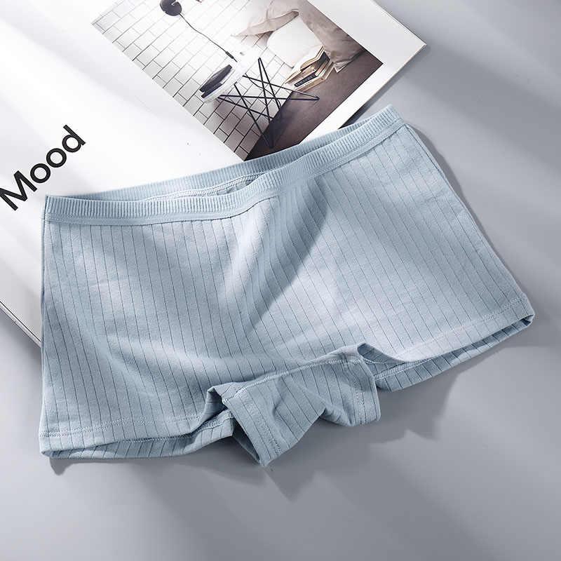 ยืดผ้าฝ้ายชุดชั้นในสตรีกางเกงขาสั้นภาษาฝรั่งเศสคำกางเกง Breathable ชุดชั้นในนุ่มสบายกางเกงขาสั้นผู้หญิง