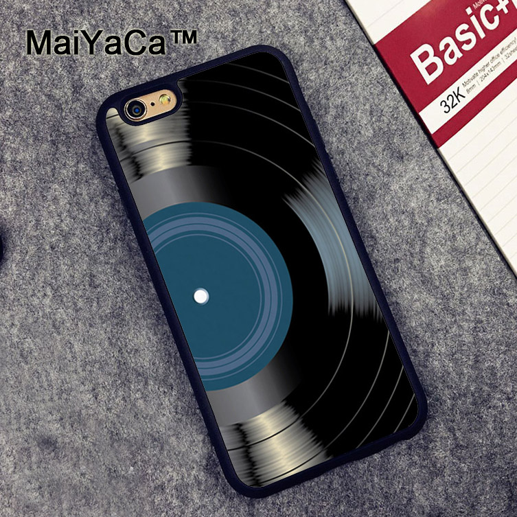 MaiYaCa Vinyl Record Blue Label Music Classic Rubber Phone Case For iphone 7 8 6 6S Plus X XR XS MAX 5 5S SE Cover Coque in Fitted Cases from Cellphones Telecommunications