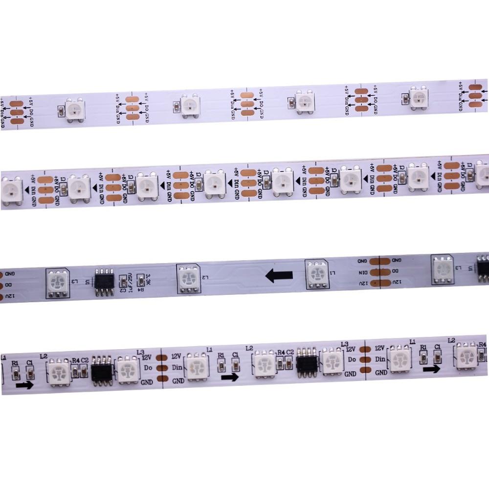 1m/2M/3M/4M/5m WS2811S WS2812B 30/60/144 Pixels/leds/m Smart Led Pixel Strip,Black/White PCB,WS2812 IC ,IP30/IP65/IP67 DC5V 12V