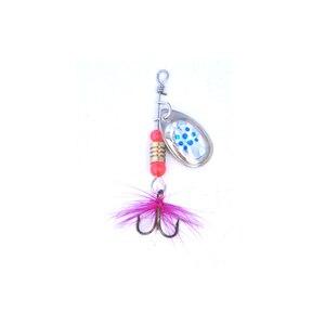 Image 3 - Oloey釣りスピナールアーwobblersクランクベイトジグ輝い金属スパンコールトラウトスプーンフェザーフック鯉