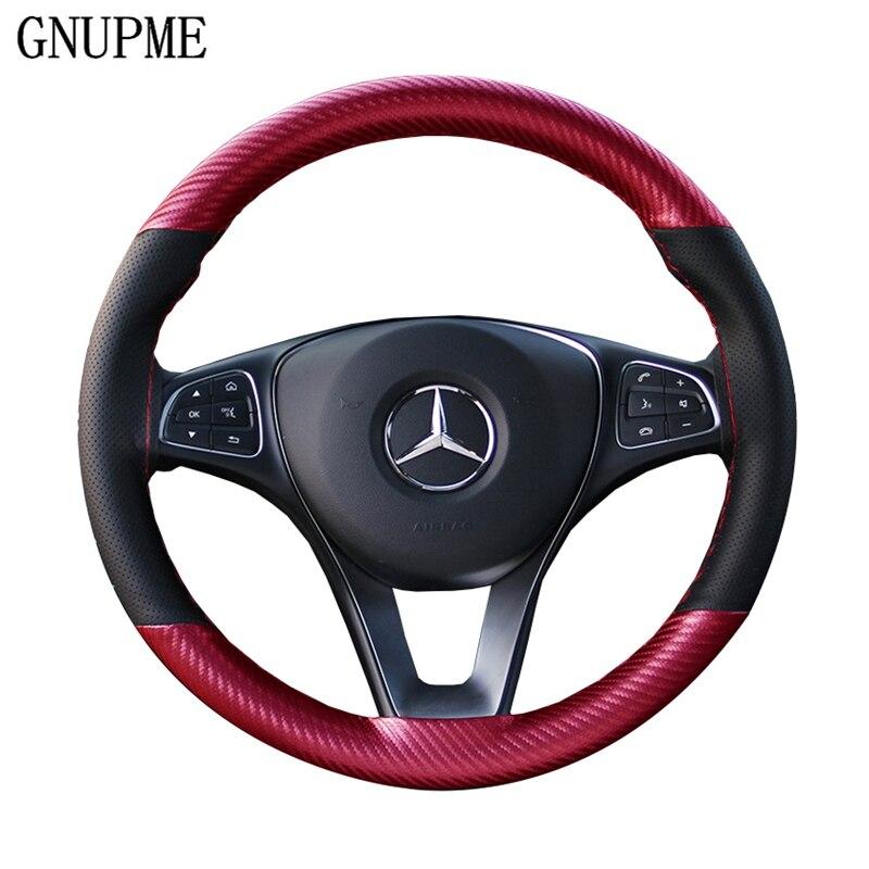 Anti-slip Car Steering Wheel Cover 38cm DIY Braid Needles And Thread Soft Artificial Leather Auto Car Steering Wheel Covers