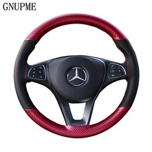 Anti-slip Car Steering Wheel Cover 38cm DIY Braid Needles And Thread Soft Artificial Leather Auto Car Steering Wheel Covers(China)