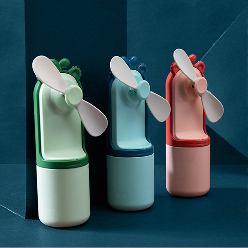 Doeltreffend Mini Kleurrijke Led Light Fan Draagbare Handheld Koelventilator Student Gift Led Knippert Fan Grondstoffen Zijn Zonder Beperking Beschikbaar