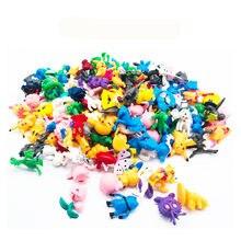 144 pçs pvc japonês bolso monstro figuras pokeball pikachu charizard estatuetas boneca lote para crianças fonte de festa
