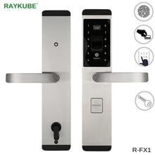 цены RAYKUBE Fingerprint Lock Digital Electronic Door Lock For Home Anti-theft Intelligent Lock Password & RFID Card R-FX1