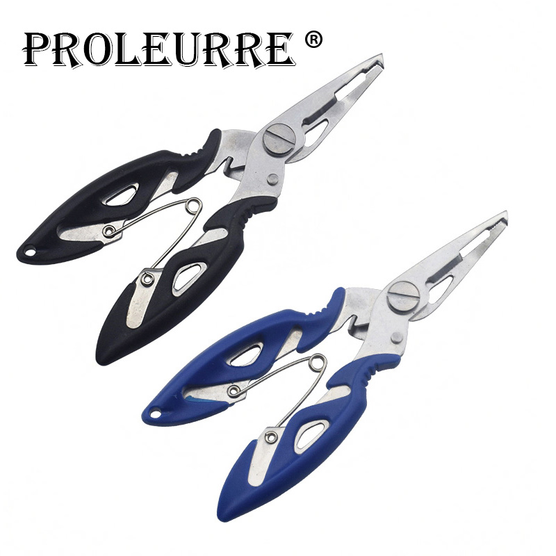 Proleurre 1Pcs Fishing Bag Stainless Steel Fishing Scissors Line Cutter Lure Bait Remove Hook Tackle Tool Kits GJ-241