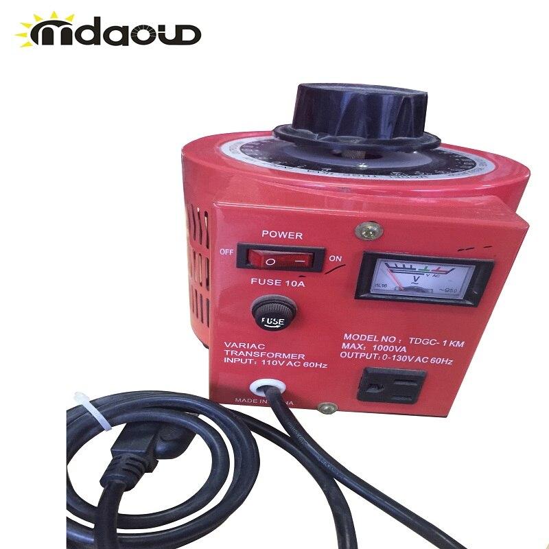 10 ampères Variac transformateur Variable 1000VA Max 0-240 AC Volt régulateur de sortie